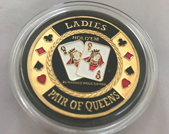 Card Guard Poker Ladies Pair of Queens