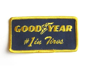 Vintage Good Year Iron On Patch Automobilia Advertising