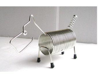 vintage Frederick Weinberg / Robert Dietz  Chrome Wire Dog Figurine