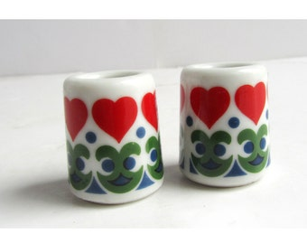 Vintage Funny Design Heart Candle Holders Germany