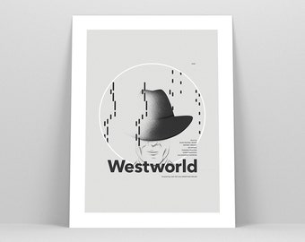 Westworld Poster ~ TV Series, Anthony Hopkins, Minimalist Poster, Gifts for Him, Birthday Gift, Art Print, Wall Art, Wall Decor