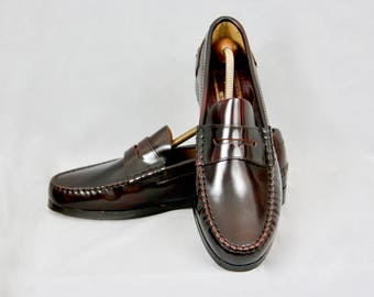 a2d30c5e3b2 CASTELLI Hecho a Mano Unworn Deadstock Vintage Real Leather Bespoke Loafers  Men s Shoes Size 43