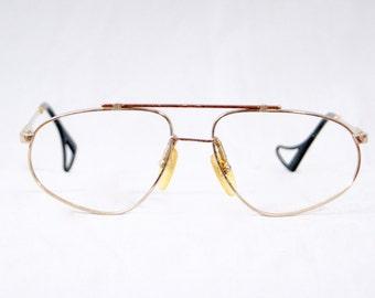 140db93cf899 JEAN CLAUDE KILLY Vintage 1980s Gold Aviators Reading Glasses Frame