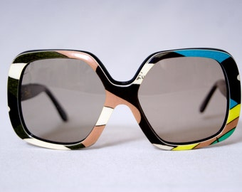 9a3ff3d1ea3 EMILIO PUCCI Eyewear Vintage 1960s Oversized Square Sunglasses Frame Extra  Large