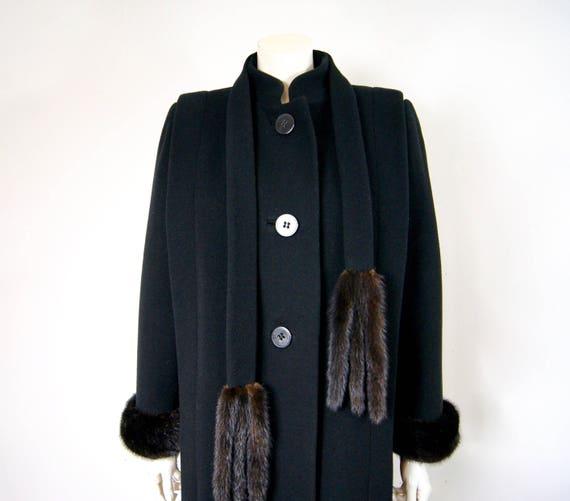 Pauline Trigère Coat, 1980s Ranch Mink Trimmed St… - image 2