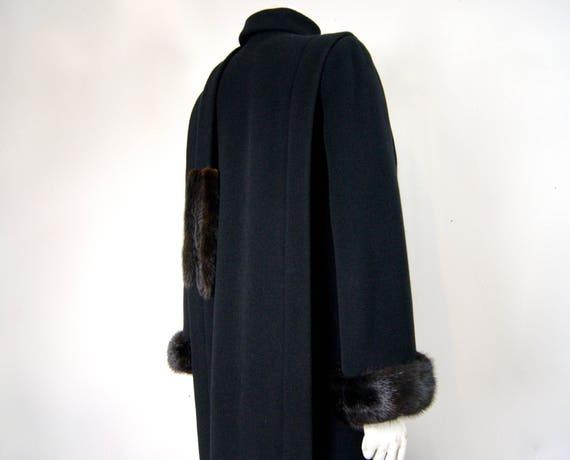 Pauline Trigère Coat, 1980s Ranch Mink Trimmed St… - image 7