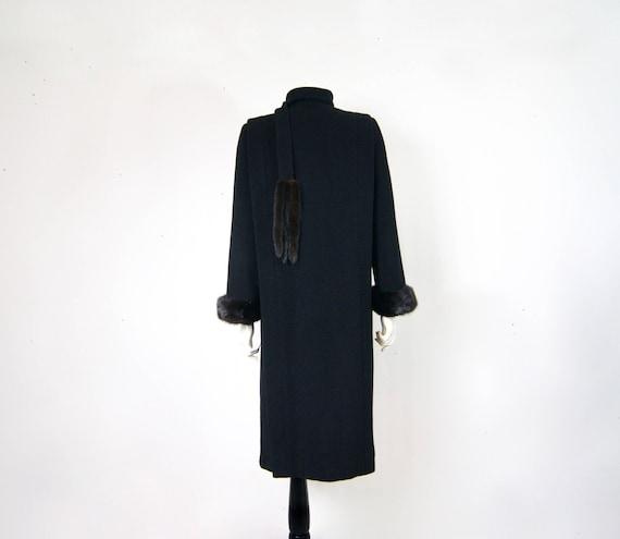 Pauline Trigère Coat, 1980s Ranch Mink Trimmed St… - image 10