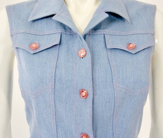 Vintage ESCADA Denim Dress, - image 7