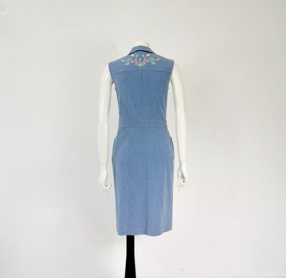 Vintage ESCADA Denim Dress, - image 2