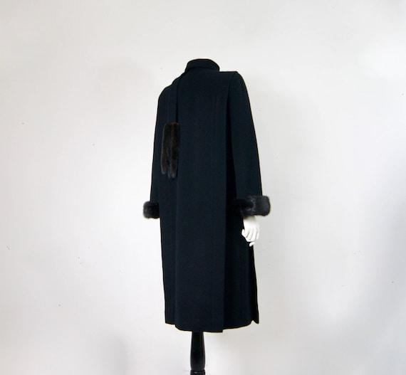 Pauline Trigère Coat, 1980s Ranch Mink Trimmed St… - image 4