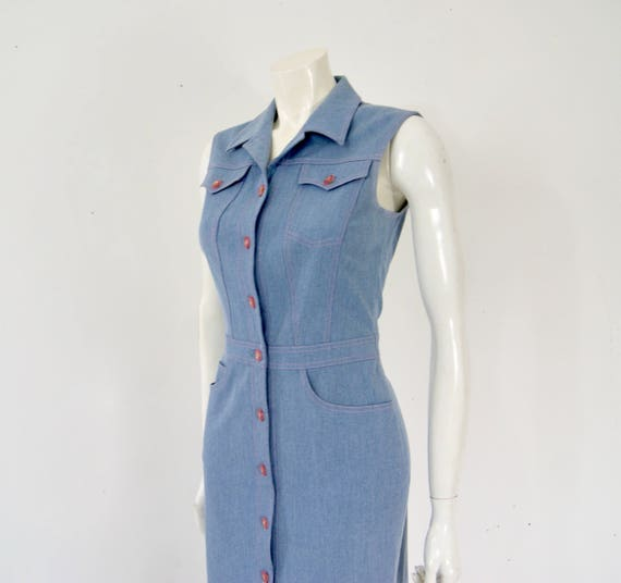 Vintage ESCADA Denim Dress, - image 4