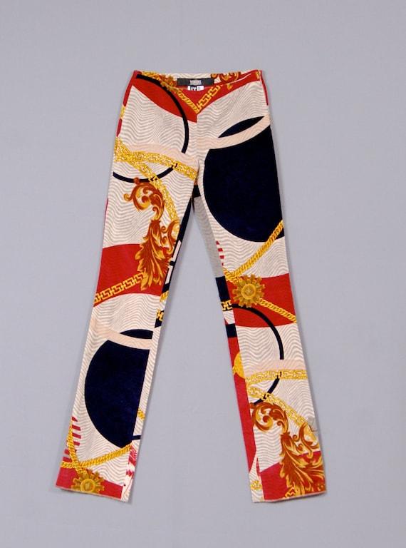 b29e33b22c1f GIANNI VERSACE Jeans Couture Vintage 1980s Velvet Curduroy
