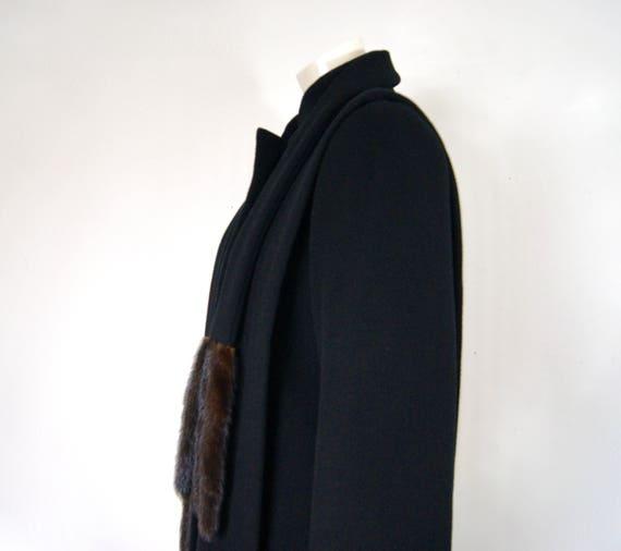 Pauline Trigère Coat, 1980s Ranch Mink Trimmed St… - image 8