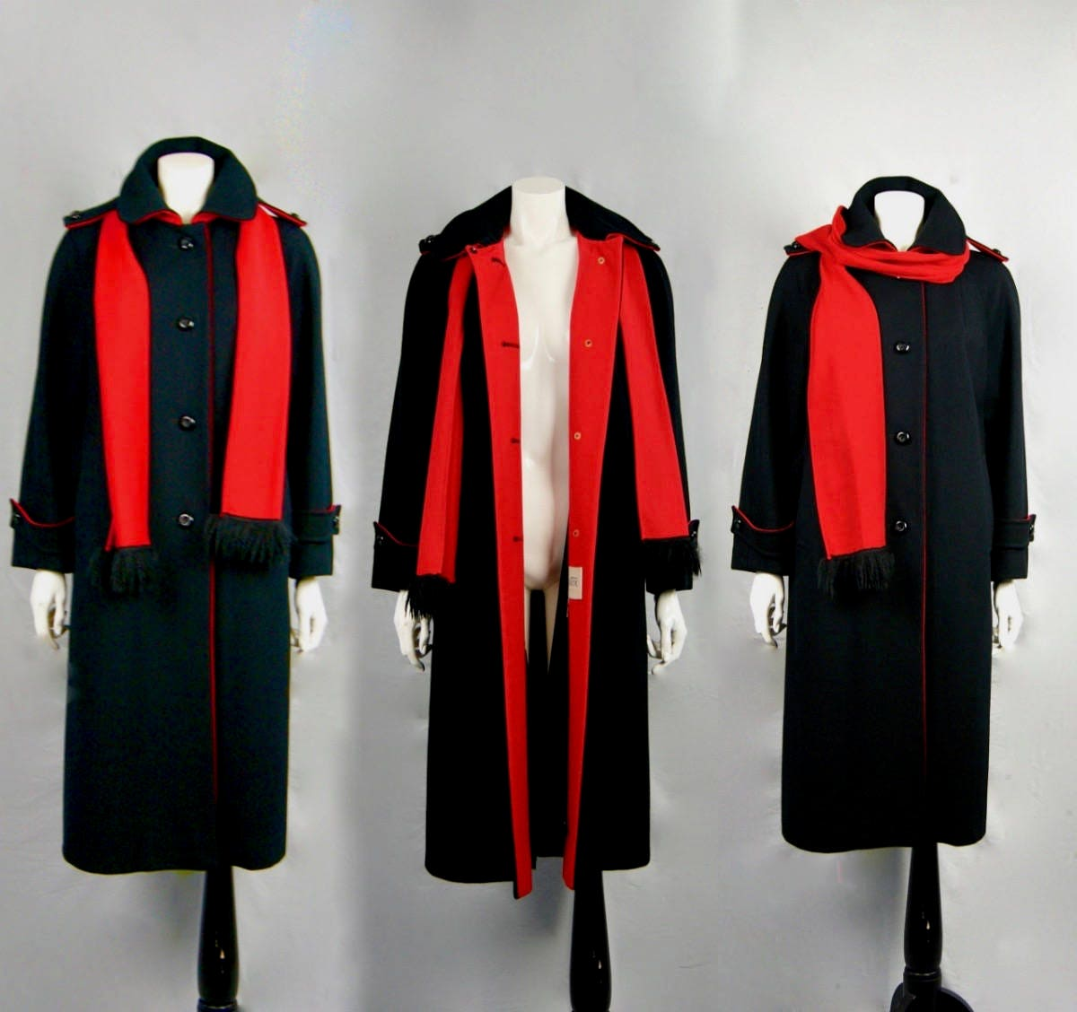 Vintage Scarf Styles -1920s to 1960s 1960S Military Inspired Pure Wool Coat With Scarf $524.43 AT vintagedancer.com