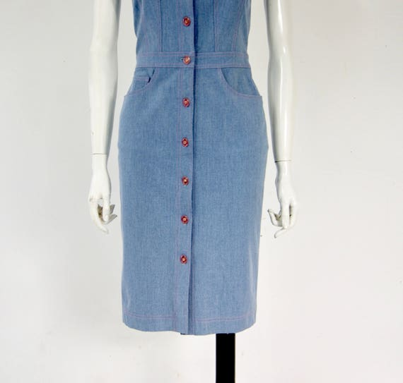 Vintage ESCADA Denim Dress, - image 6