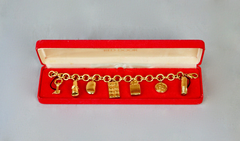 Elizabeth Arden Red Door Gold Electroplated Charm Etsy