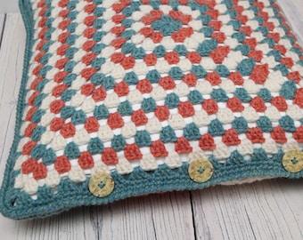 Granny Square Cushion Cover - 40cm Square - New Lanark Aran (cushion pad not included)