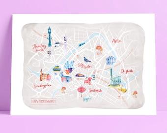 Birmingham Illustrated Map, A3