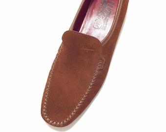 Salvatore FERRAGAMO Sport ~ Rust Leather Suede Loafers