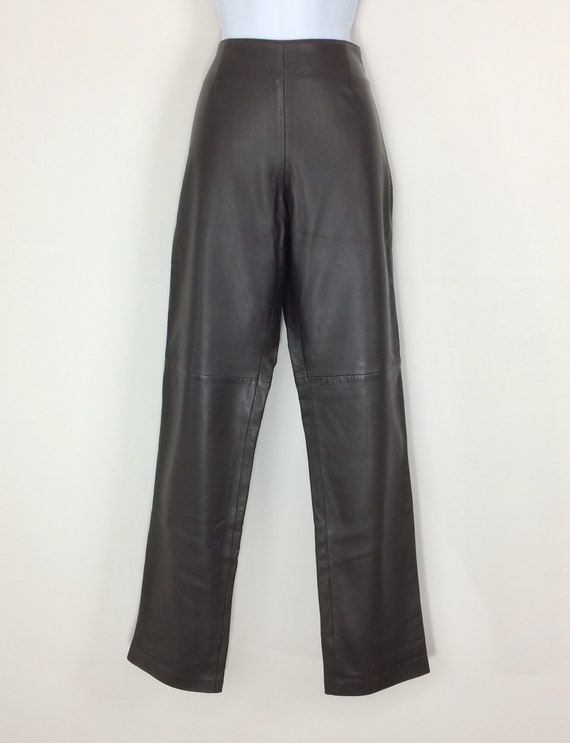 MODA INTERNATIONAL Brown Leather Pants