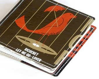 10 CD/ DVD Wallet, CD Holder Book Handmade from Upcycled Album Cover, Ready to Ship