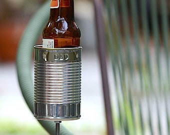 Dad Hobo Tin Can Beer Holder, Garden Drink Holder, Father's Day Gift, 10 Year Tin Anniversary Gift for Husband, for Dad, Beer Gift
