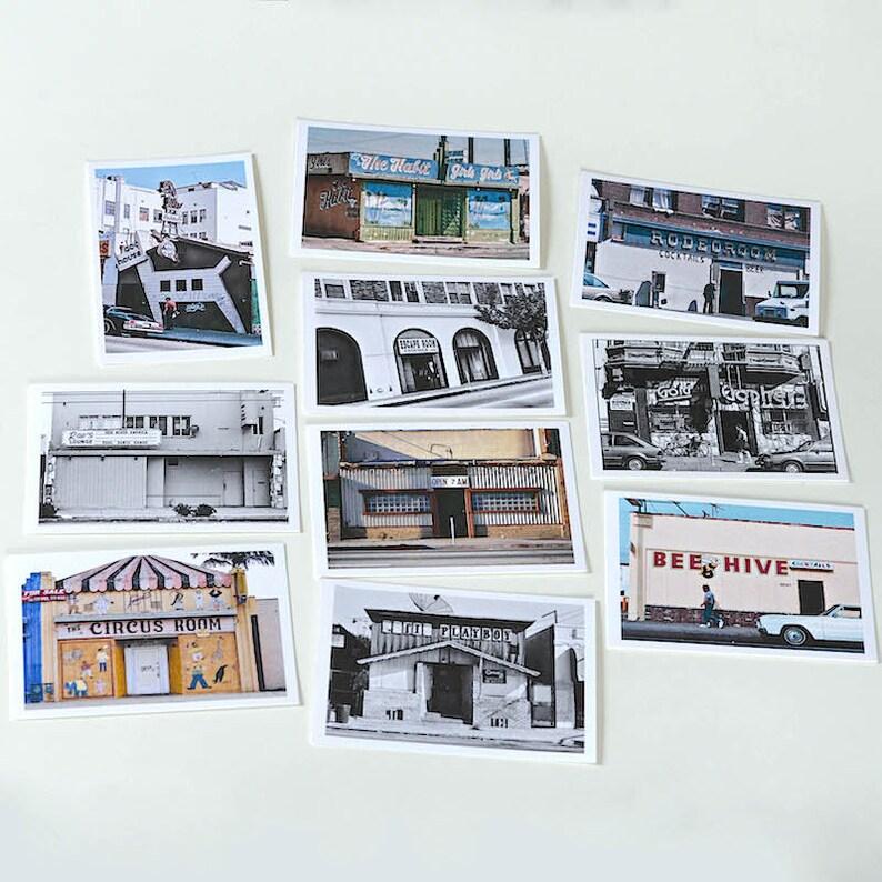 Los Angeles Bar Photo Post Cards Los Angeles Print Postcard image 0