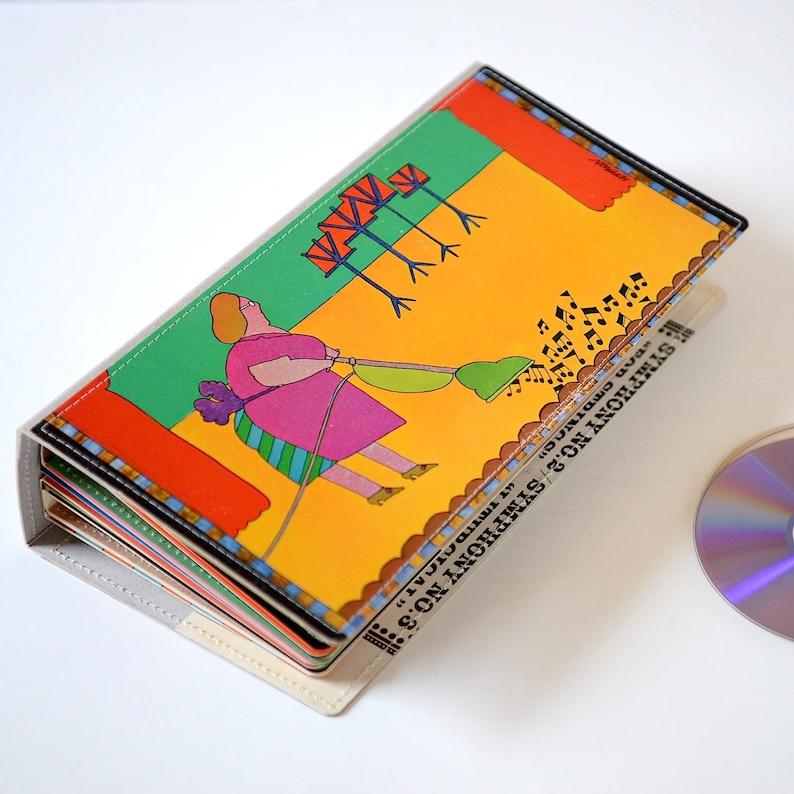 52 DVD Holder Book DVD Wallet DVD Storage Case Handmade from image 0