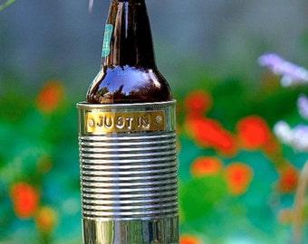 Hobo Tin Can Beer Holder/ Garden Drink Holder/ Outdoor Beverage Holder/ Gift for him