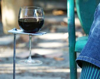 Boho Wine Glass Holder, Garden Wine Holder, Outdoor Wine Caddy, Wine Lover Gift, Wine Gift for Mom, Gift Under 30, Gift for Her Wine