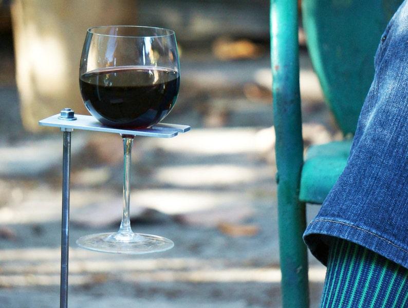 Boho Wine Glass Holder Garden Wine Holder Outdoor Wine image 0