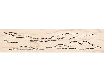 Wispy Clouds 536L Beeswax Rubber Stamps Unmounted, Cling, Mounted Stamp Scenic, Landscape Stamping