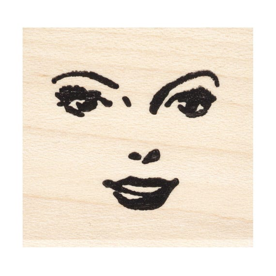 Portraits Stamping Faces Mounted Stamp People Missy 920S Beeswax Rubber Stamps Unmounted Cling