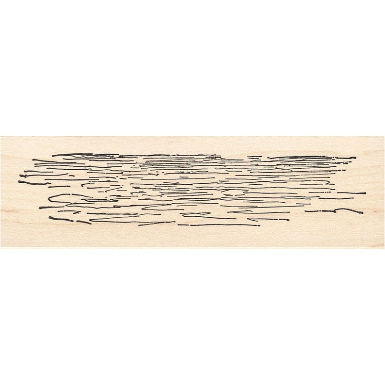 Water Ripples 1119J Beeswax Rubber Stamps Unmounted Landscape Stamping Cling Mounted Stamp Scenic