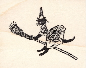 Witchiepoo 1027E Beeswax Rubber Stamps Unmounted, Cling, Mounted Stamp Halloween Stamping