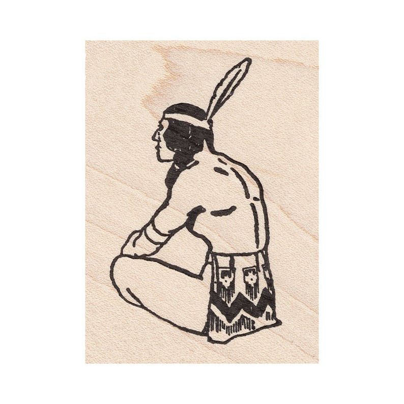 Sitting Brave 641G Beeswax Rubber Stamps Unmounted Men /& Women Stamping Cling Mounted Stamp People