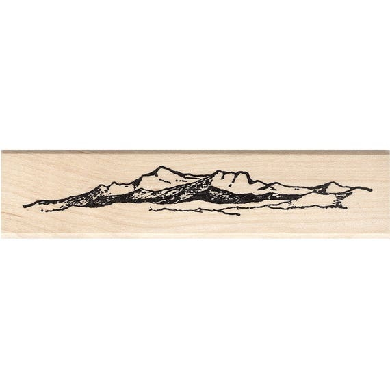 Rolling Hills Rubber Stamp Scenic Stamp
