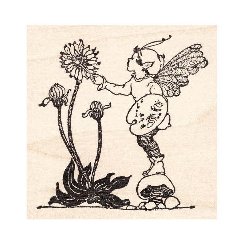 Painting Fairy 297K Beeswax Rubber Stamps Unmounted, Cling, Mounted  Mythical Creature
