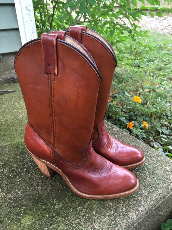 Vintage Cowboy Boots with Heel Made By Dingo Synth