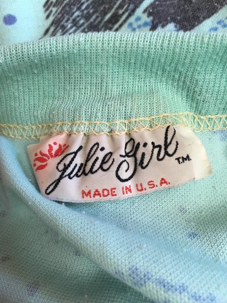 Vintage Sweatshirt Top Paint Splatter Print Batwing sleeves Oversize Women/'s size SmallMedium 1980s