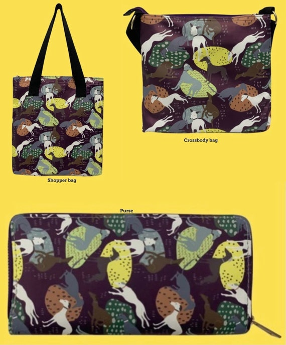 Ladies greyhound and whippet bags and purses
