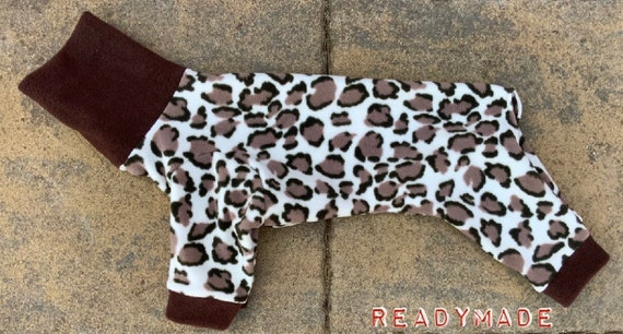 Italian greyhound fleece pyjamas, whippet fleece pjs readymade