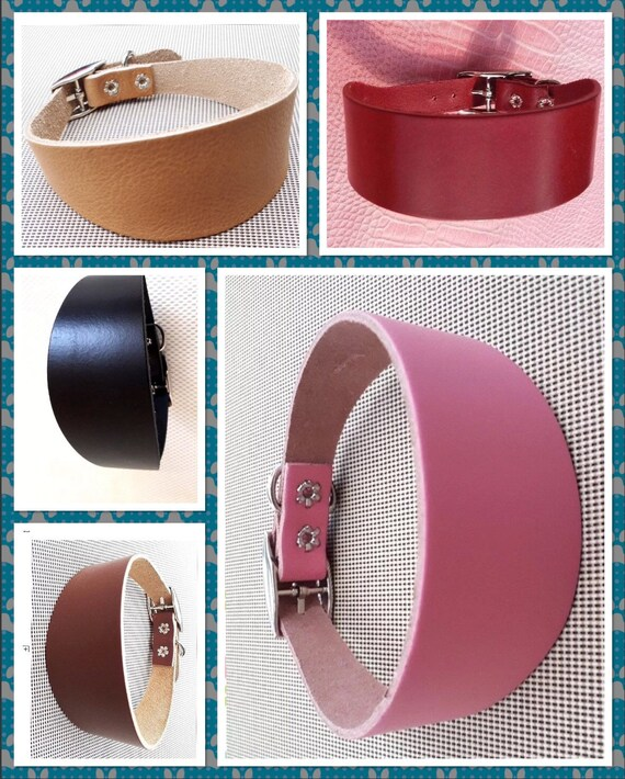 Greyhound and whippet  and Italian greyhound collars real soft leather
