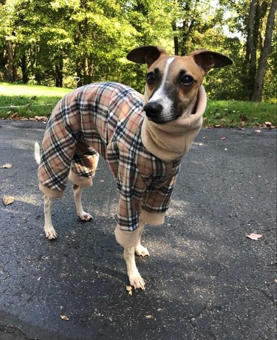 Greyhound Pyjamas, Greyhound Clothing, Greyhound Fleece Pjs, Dog Pyjamas, Whippet Clothing, whippet pyjamas ,Large Dog Jumper, Italian Greyh