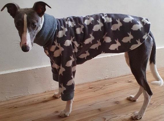Greyhound Pyjamas, Greyhound Clothing, Greyhound Fleece Pjs, Dog Pyjamas, Whippet Clothing, whippet pyjamas ,Italian greyhound 2 leg pyjamas