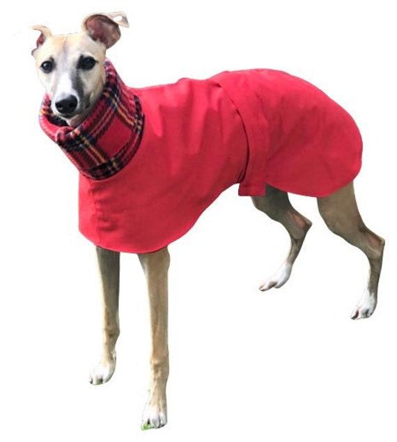 Greyhound Coat, Fleece Lined Coat, Whippet Coat,cótaí fuipéideacha,Waterproof Dog Coat,Whippet Jacket, cotiau milgwn (fleece lined raincoat)