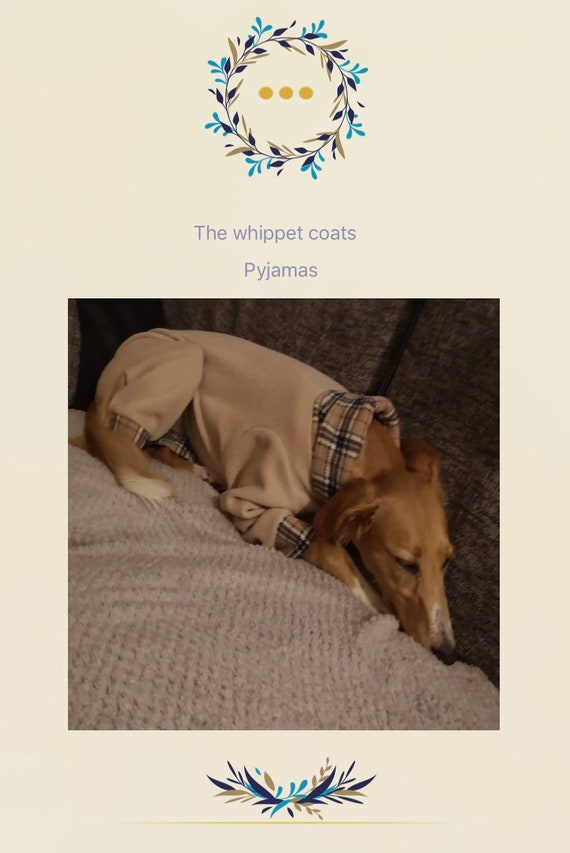 Greyhound Pyjamas, Greyhound Clothing, Greyhound Fleece Pjs, Dog Pyjamas, Whippet Clothing, whippet pyjamas ,Large Dog Jumper, Italian Greyh