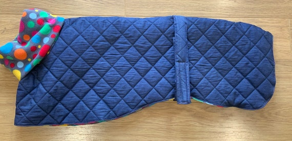 Limited edition greyhound denim quilted jacket fleece lined