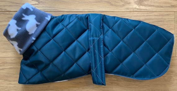 Limited edition greyhound and whippet fleece lined winter coats