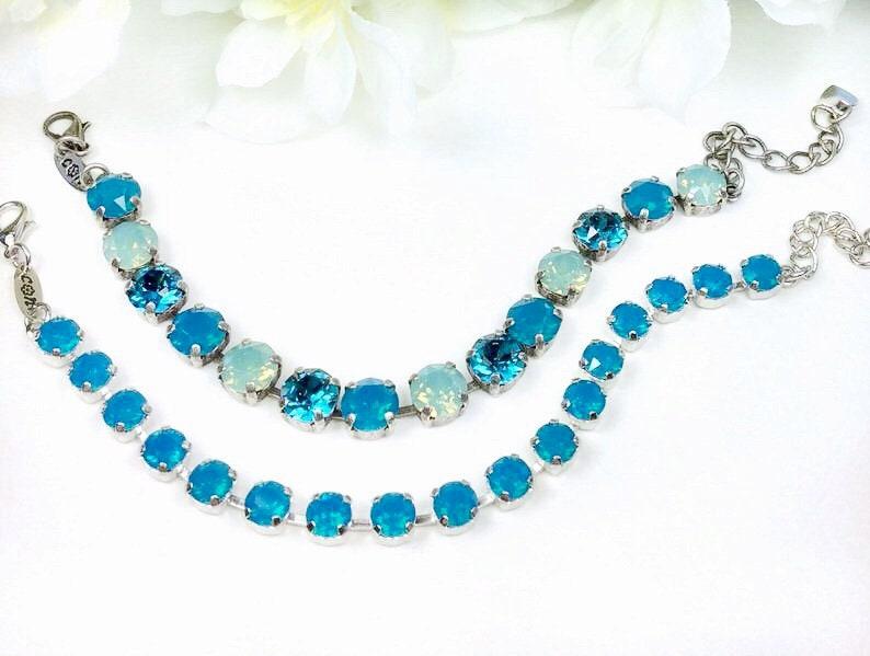 d2b2c765a Swarovski Crystal 8.5mm Bracelets Caribbean   Etsy